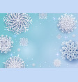 origami snowfall background with space for text vector image vector image