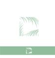 Palm Leaf Logo vector image vector image