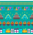 Pattern with party elements vector image vector image