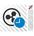 ripple credit time flat icon with bonus vector image vector image