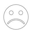 sad emoticon black color icon vector image vector image