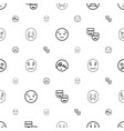 sad icons pattern seamless white background vector image vector image