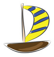 sailing boat sketch color on white background vector image vector image