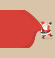 santa claus with huge bag copyspace vector image vector image