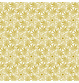 seamless floral greek gold pattern on a white vector image
