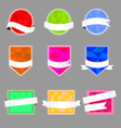 Set of banners with a polygonal background and vector image vector image