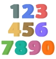 Set of flat numbers vector image