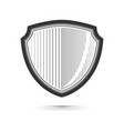 shield realistic monochrome vector image vector image