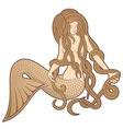 sitting mermaid vector image