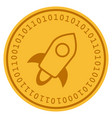 stellar currency digital coin vector image vector image