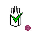 symbol check or approve wine or other vector image