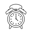 time clock watch alarm icon vector image vector image