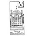 tomb of american president monroe vintage vector image vector image