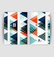 triangle business annual report cover print vector image vector image