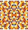Triangular Mosaic Orange Background vector image