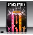Urban dance party flyer vector image vector image