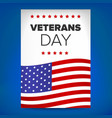 veterans day template vector image vector image