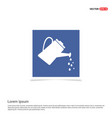 watering can icon - blue photo frame vector image