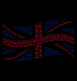 waving great britain flag collage of total control vector image vector image