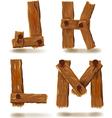wooden J K L M vector image