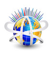 world roads and modern cities icon symbol vector image vector image
