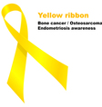 Yellow ribbon vector image vector image