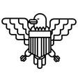 american eagle line icon sign vector image
