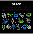 space poster of cosmic rockets planet sand vector image