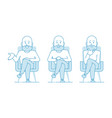a bald man consultant or psychotherapist vector image