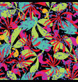 abstract tropical leaves seamless pattern vector image vector image