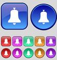 Alarm bell icon sign A set of twelve vintage vector image