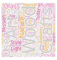Arts and Crafts Revival text background wordcloud vector image vector image