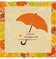 Autumn background with umbrella vector image vector image