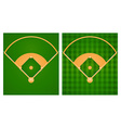 Baseball field in two lawn designs vector image vector image