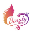 beautiful female face portrait - beauty salon vector image