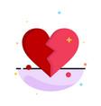 broken love heart wedding abstract flat color vector image vector image