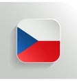 Button - Czech Republic Flag Icon vector image