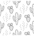cactus simple line coloring style pattern vector image vector image