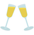 celebrating holiday with sparkling wine two vector image