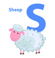 character s cheerful sheep on abc for children vector image vector image