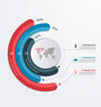 circle infographic template with 3 processes vector image vector image