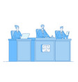 court of justice law court defendant proceed vector image vector image