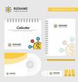 dollar network logo calendar template cd cover vector image vector image