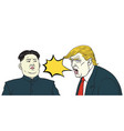 donald trump vs kim jong un cartoon vector image vector image