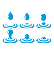 drop ripples collection vector image