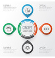 e-commerce icons set collection of withdraw money vector image vector image