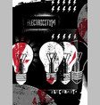 electricity retro grunge poster vector image
