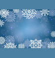 elegant christmas background with many snowflakes vector image