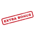 Extra Bonus Text Rubber Stamp vector image vector image