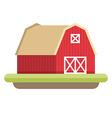 flat style farmhouse farming concept vector image